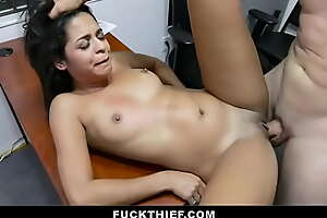 Crying Latina Teen Gets Fucked Hard by Mall Officer