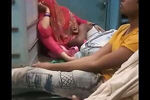 Indian Couple Enjoy in Public Train