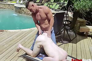 Skinny-Dipping Perp, Caught And Punished- Felon fucker