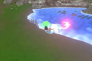 3D FEMDOM game: Slimegirl VORE part 2