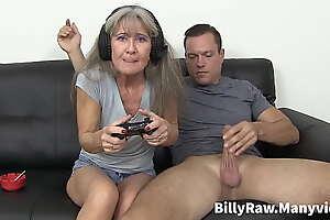 Video Gaming Granny Gets Big Dick