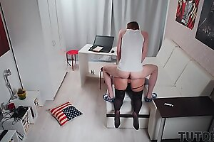 TUTOR4K. Mentor is banged by skinny man who pays not for knowledge but sex
