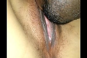 Eating my wife's porn video  caramel pussy