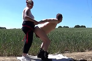girlfriend pegging bisexual hubbys ass in nature fully exposed and showing his face