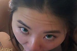 (VOYEUR) spying on Asian Webcam Model got my dick wet!