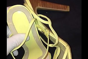 Sexy size 6 yellow heels used