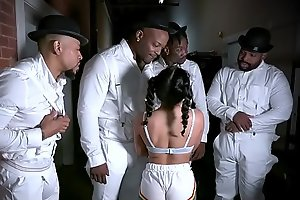 ExxxtraSmall - Petite Hottie Liv Revamped Fucked By Four Black Dudes