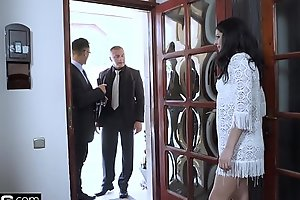 Glamkore - Coco de Mal face fucked outside &amp_ anal threesome