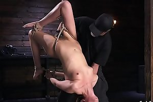 Hairy pussy brunette tits tormented