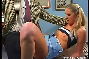 Charming blonde whore Ashley Long adores oral games