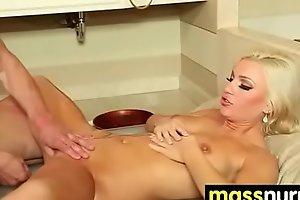 slippery nuru massage for lucky dude 6