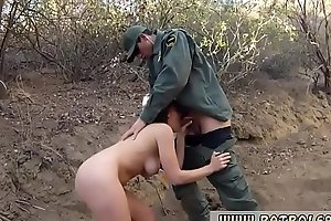 Cop blackmails whore Kayla West was caught lusty patrool during