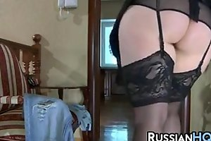 Mature russian drilled by young dong