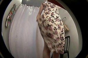Hidden spycam web camera in shower dressing