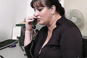 Fat secretary oral job and office fuck