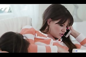 Having sex while on phone - Girlsway