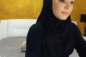 Arab hijab slut gang  &_ masturbation on cam