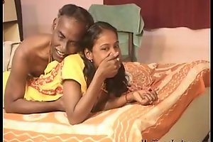 India fascinating legal age teenager slutty wife engulf and oral-job his old spouse