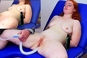 Miss fi takes a massive enema with the hard colon snake