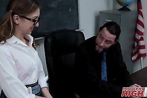 Nerdy Snobbish Tutor Teen Fucked At the end of one's tether Trainer