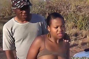 chubby african babe alfresco fucked