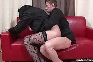 Pulling youthful french nun gaping void anal screwed fisted and cum thither frowardness by a difficulty celebrant