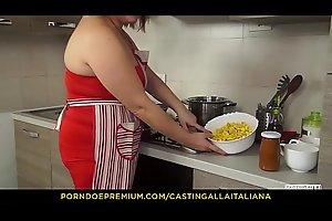 CASTING ALLA ITALINA - Juicy anal with horny mature Italian amateur Kiara Rizzi and Omar Galanti