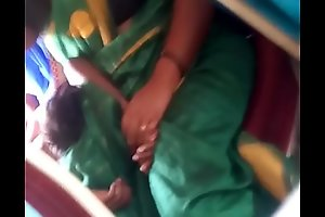 Aunty upon bus.. blouse nipple visible... Keep in view carefully 2