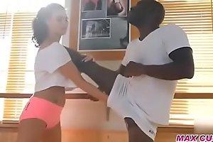 Gym Instructor fucking black cock