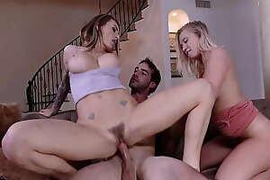 Bailey Brooke and Natasha Starr Sharing One Big Dick